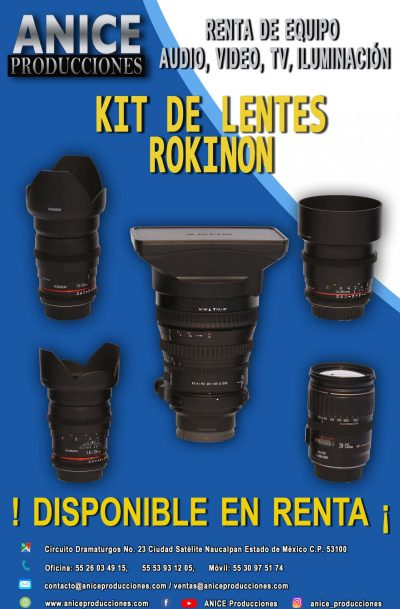 16 FLAYER KIT DE LENTES ROKINON